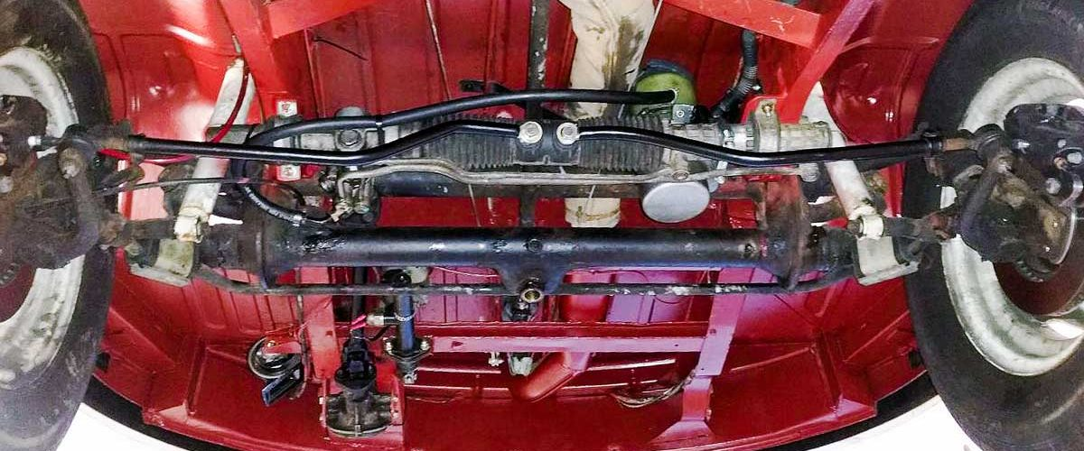 custom power assisted steering rack conversion so neat it looks like factory spec