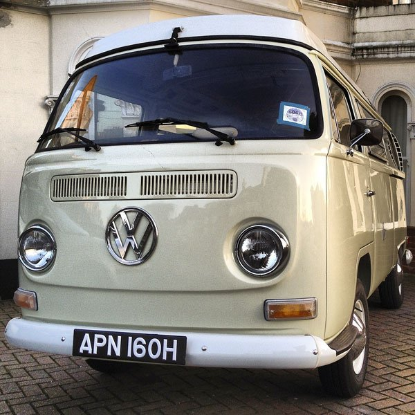 home is wherever  you park your VW Early Bay camper