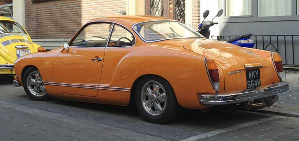 this was a intense orange Karmann Ghia was not for the shy