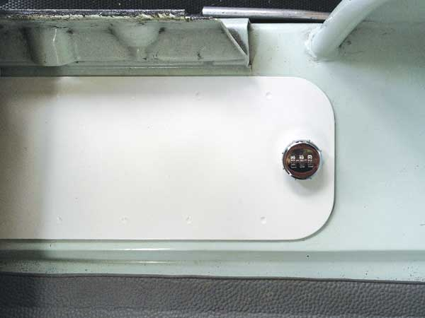 the locker lid when fitted looks like a factory fitted item