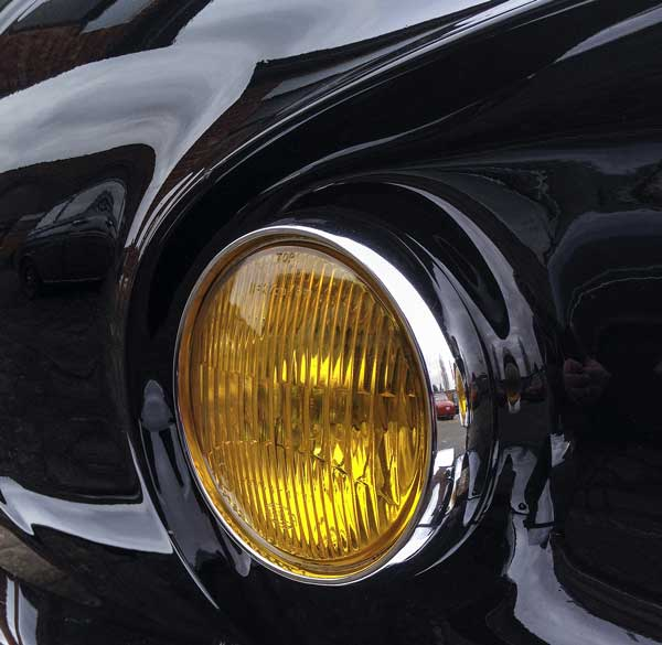 the sensuous lines of the T34 Karmann Ghia 'Razor Edge' headlight detail