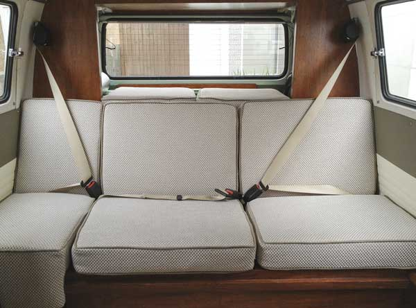 rear seats all covered with extra custom cushions also made