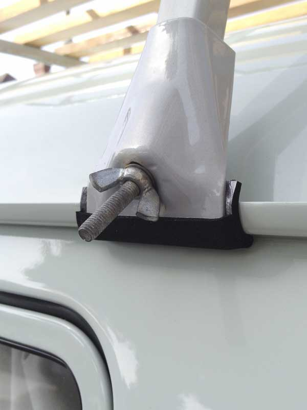 the re-made outer clamp protective coverings