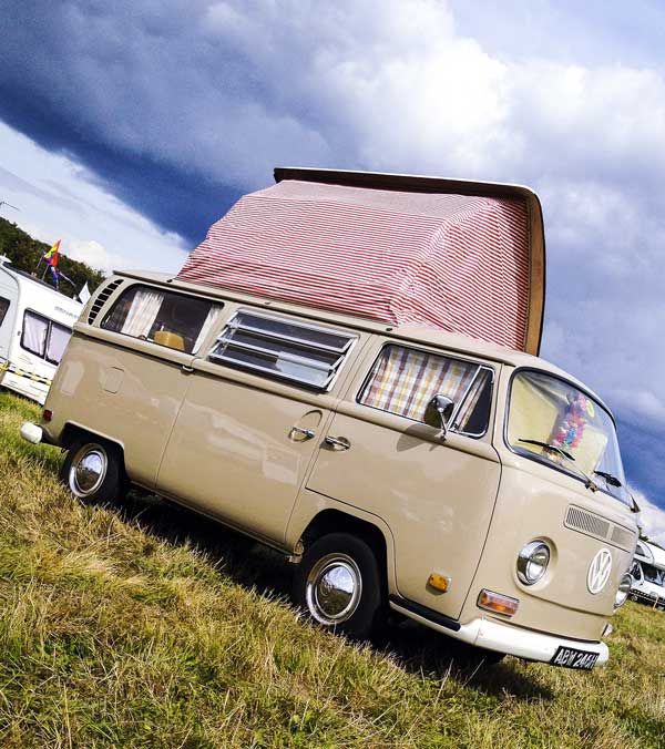 beautiful Early Bay Dormobile camper