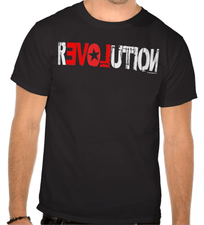 revolution… but with a twist! Designed distressed typography to start a revolution, right here, right now!