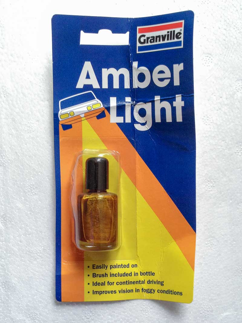 a bottle of Granville Amber Light headlight lacquer should help transform the lights