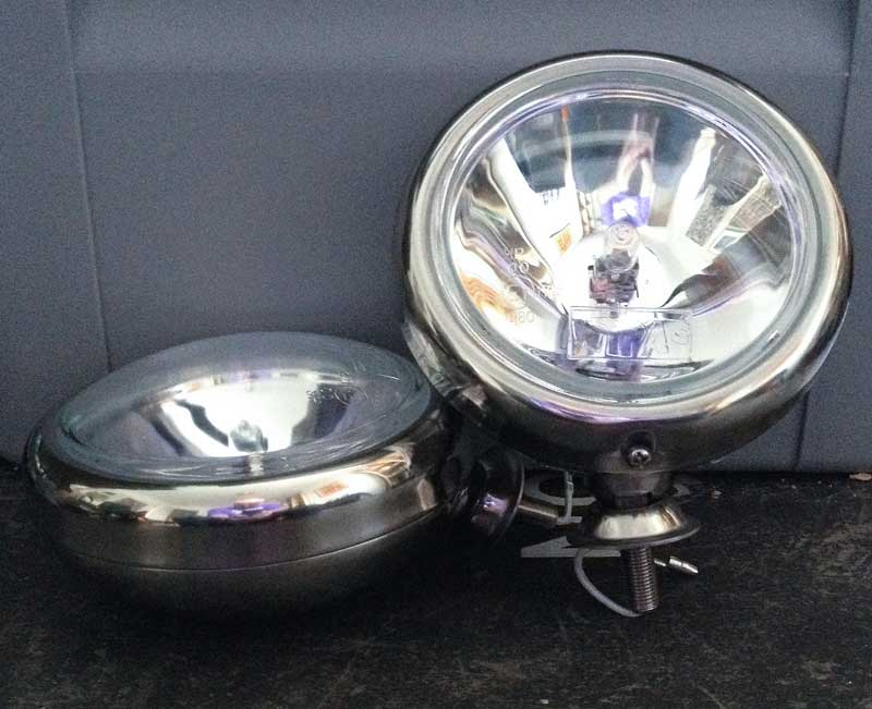 the Wipac new mini stainless steel spotlights ready for their transformation…